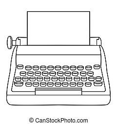 抽象的, 古い, タイプライター