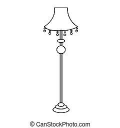 抽象的, 古い, ランプ