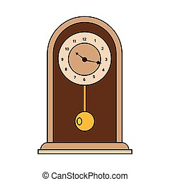 抽象的, 古い, 時計