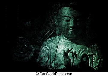 抽象的, 壁紙, 寺院, 背景, 中国語