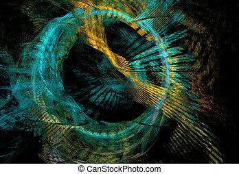 抽象的, 多彩, フラクタル, パターン