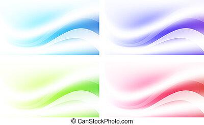 抽象的, 多彩, 背景, セット