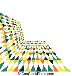 抽象的, 多色刷り, 幾何学的, 背景