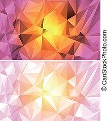 抽象的, 多角形, 背景