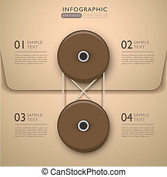 抽象的, 封筒, infographics