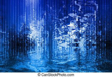 抽象的, 川, 技術の流れ