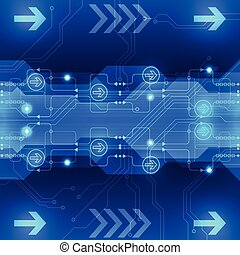 抽象的, 工学, ベクトル, 背景, 革新, 未来, 技術