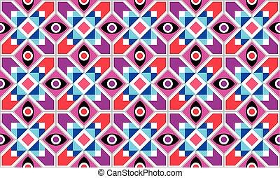 抽象的, 幾何学的, ベクトル, seamless, パターン