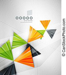 抽象的, 幾何学的, 三角形の形, 背景