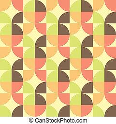 抽象的, 幾何学的, seamless, パターン