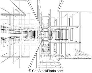 抽象的, 建築物