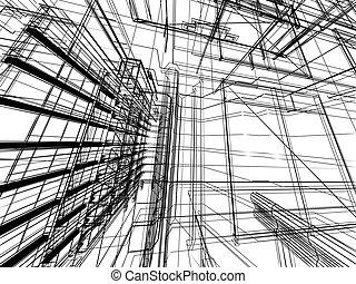 抽象的, 建築