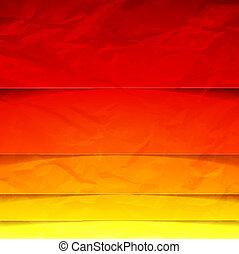 抽象的, 形, 黄色, 赤, オレンジ長方形