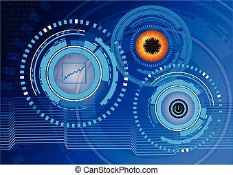 抽象的, 技術, デジタル