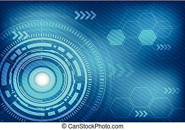 抽象的, 技術, 背景, デジタル