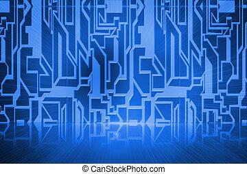 抽象的, 技術, 背景