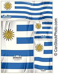 抽象的, 旗, 背景, ウルグアイ