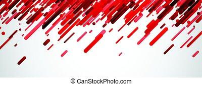 抽象的, 旗, white., 赤