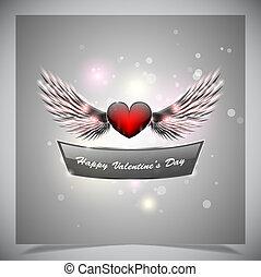 抽象的, 日々, 背景, バレンタイン