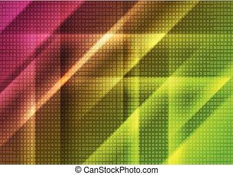 抽象的, 明るい, 技術, 背景, 幾何学的, 光沢がある