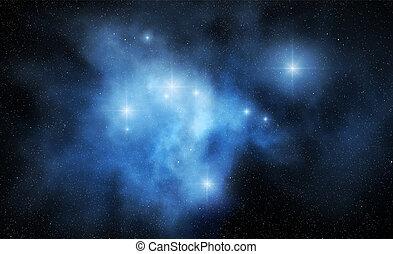 抽象的, 星雲, スペース