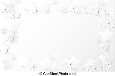 抽象的, 星, 白い背景