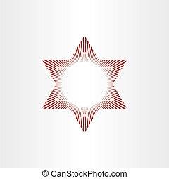 抽象的, 星, 赤い背景