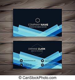 抽象的, 暗い 青, 名刺, デザイン