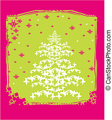 抽象的, 木, クリスマスカード