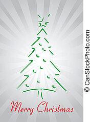 抽象的, 木, クリスマス