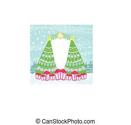 抽象的, 木, クリスマス, フレーム