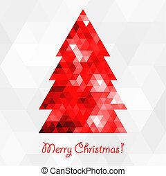 抽象的, 木, クリスマス, モザイク
