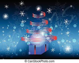 抽象的, 木, クリスマス, 赤