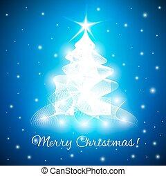 抽象的, 木, 挨拶, メリークリスマス, カード