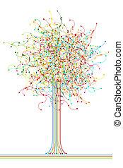 抽象的, 木, 有色人種, ネットワーク