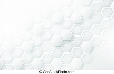 抽象的, 株, 背景, 写真, ハチの巣, 3d, 六角形