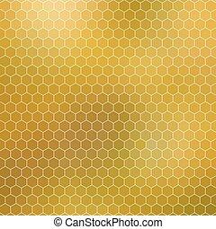 抽象的, -, 格子, 幾何学的, 六角形, ハチの巣