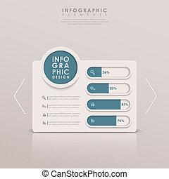抽象的, 棒グラフ, infographics