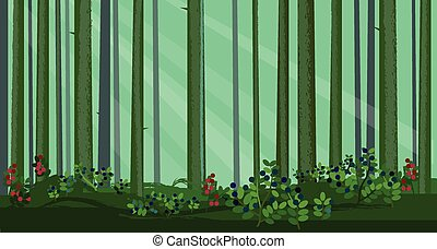 抽象的, 森林, 松