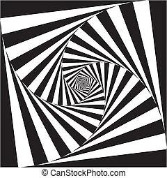 抽象的, 正方形, pseudo, spyral, 階段, 背景
