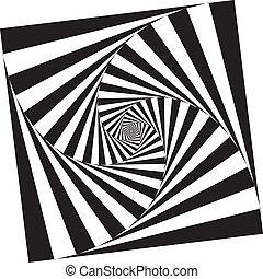 抽象的, 正方形, pseudo, spyral, 階段, 背景, 2