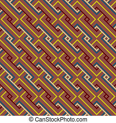 抽象的, 民族, 幾何学的, seamless