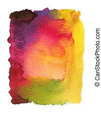 抽象的, 水彩画, ペイントされた