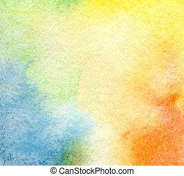 抽象的, 水彩画, ペイントされた, 背景