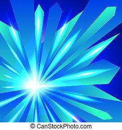 抽象的, 水晶, 光沢がある, 背景