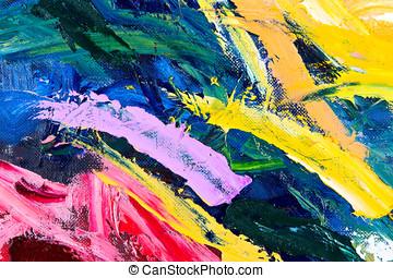 抽象的, 油絵, 分解しなさい