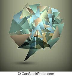 抽象的, 泡, 幾何学的