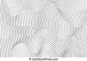 抽象的, 波状, ライン, 背景