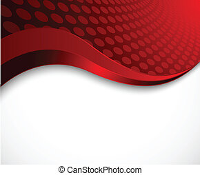 抽象的, 波状, 赤, 背景