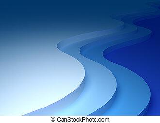 抽象的, 波, 背景, 3d